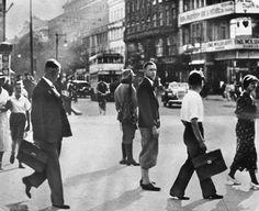 Berlin, 1934 Militärposten am Potsdamer Platz..