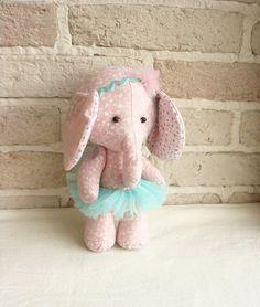 Ballerina Elephant Soft Toy Fabric by sistersdreams on Etsy, £15.60
