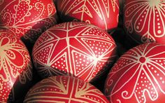 And finally some red easter eggs from Hungary. Beautiful.