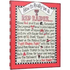 Texas Tech Red Raiders 20'' x 16'' How-To Canvas