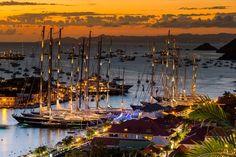 St. Bart's at sunset. #Caribbean