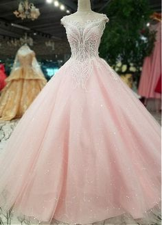 Buy discount Romantic Tulle Bateau Neckline A-line Wedding Dress With Lace Appliques & Beadings at Laurenbridal.com