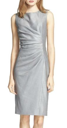Donna Paulsen's Max Mara 'medusa' Ruched Seam Wool & Silk Dress