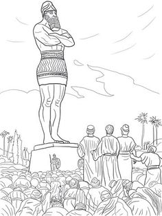 Daniel's Friends Refused to Worship the Statue coloring page from ...