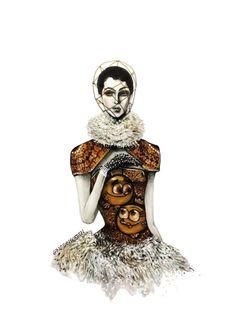 Illustration.Files: Cosmo & Wanda x Alexander McQueen F/W 2013 Fashion Illustration by Gino Paolo Eraña