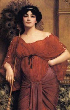"""Bathsheba. Actually, """"A Roman Matron,"""" by John William Godward, a disciple of Alma-Tadema."""