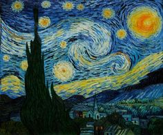off Hand made oil painting reproduction of The Starry Night, one of the most famous paintings by Vincent Van Gogh. Painted a year after his Starry Night Over the Rhone, Van Gogh. Van Gogh Pinturas, Desenhos Van Gogh, Gogh The Starry Night, Starry Night Original, Starry Nights, Starry Starry Night Painting, Van Gogh Paintings, Poster Prints, Art Prints
