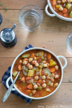 This Chickpea Garden Vegetable Soup is a celebration of summer's produce in healthy comfort food form. This time of year I'm always torn between wanting a salad or a big old plate of grilled vegeta...