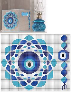 Evil eye x-stitch Cross Stitch Art, Modern Cross Stitch, Cross Stitch Designs, Cross Stitching, Cross Stitch Embroidery, Embroidery Patterns, Cross Stitch Patterns, Motifs Blackwork, Tapestry Crochet