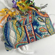"""Vera Bradley Kiss N'Snap Wallet Marina Paisley EUC. White color is not as bright as when originally bought. No signs of visible wear other then white color fading. Measures 8.25""""x 4.75""""⭐️Make an offer using the offer button or take advantage of my bundle discount! Trades PP Vera Bradley Bags Wallets"""