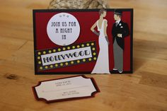 Hollywood Glamour Wedding Invitation by CardKnoxLife on Etsy