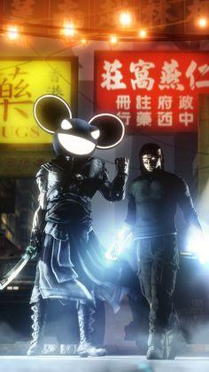 Deadmau5 and Skrillex by ~Noopr on deviantART
