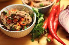 Meine besten Rezepte!: Yam Nua - Thai-Rindfleischsalat - it's hot Baby