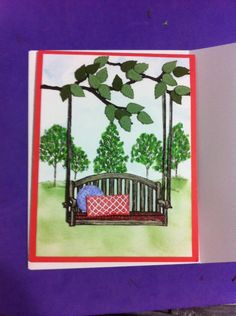 Sitting Here with a Lovely Tree by lynkim - Cards and Paper Crafts at Splitcoaststampers
