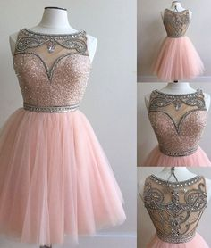 homecoming dresses,pink tulle short prom dress for teens, pink homecoming dress
