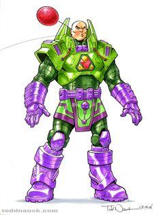 Battle Armor Lex Luthor by Todd Nauck Lex Luthor, Comic Books Art, Comic Art, Dc Comics, Superman And Lois Lane, Arte Nerd, Couple Sketch, Batman, Sketches