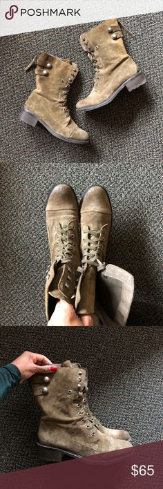 Green Suede Combat Boots Green suede combat boots by Sam Edelman. In excellent condition, only worn a few times. PLENTY OF LIFE left in these boots! Sam Edelman Shoes Combat & Moto Boots