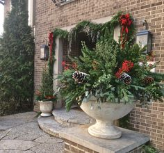 5th and state: Winter Containers 2014 - outdoor decorating inspiration
