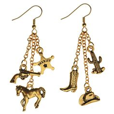 Go West with these cowboy inspired earrings featuring TierraCast charms.