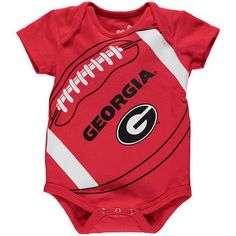 Georgia Bulldogs Newborn & Infant Red Fanatic Football Bodysuit