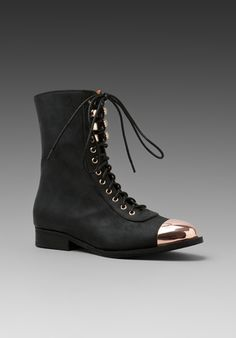 JEFFREY CAMPBELL Zorro Cap in Black/Gold at Revolve Clothing - Free Shipping!