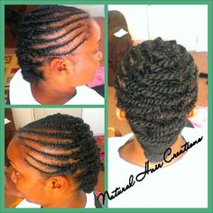 Photo by natural_hair_creations flat twists style