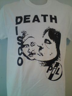 PUBLIC IMAGE LTD DEATH DISCO TSHIRT pil sex pistols seditionaries sid vicious in Clothes, Shoes & Accessories, Men's Clothing, T-Shirts | eBay