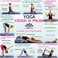 If you are struggling with cough allergies or are dealing with a buildup of mucus and phlegm learn these yoga poses for cough and phlegm. Wellness Fitness, Yoga Fitness, Yoga For Colds, Yoga Detox, Yoga Mom, Gym Workout For Beginners, Lymphatic System, Yin Yoga, Yoga Poses