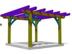 Want to build a pergola? Check out our FREE plan! - http://timberframehq.com/free-pergola-plan/?utm_content=buffer0c668&utm_medium=social&utm_source=pinterest.com&utm_campaign=buffer
