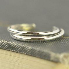 Sterling Silver toe ring Simple Summertime by KristinNoelDesigns