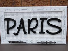 PARIS WOOD LETTER Sign/entrance sign/bathroom decor/hand towels/kitchen towels/hand towel rack/welcome sign Paris Wall Decor, Decorative Hand Towels, Entrance Sign, Kitchen Hand Towels, Bathroom Signs, Bathroom Ideas, Wood Letters, Diy On A Budget, Photoshop