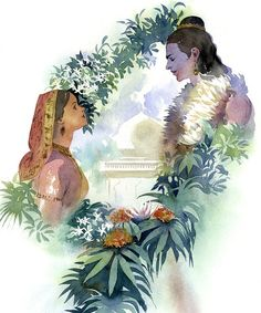 Ramayana — Rama and Sita, avatars of Vishnu and Lakshmi Shiva Parvati Images, Radha Krishna Pictures, Krishna Images, Shiva Shakti, Shiva Art, Krishna Art, Hindu Art, Shree Ram Images, Lord Rama Images