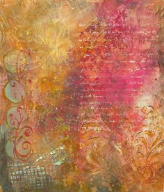Mixed Media Background by Linda Marcille ~ Art on Silk, via Flickr