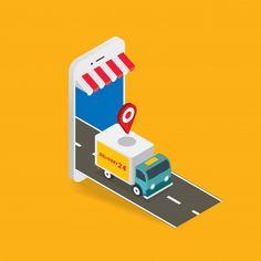 Isometric Art, Isometric Design, Flat Design Illustration, Business Illustration, Supermarket Logo, Organizar Instagram, Interactive Web Design, Flat Drawings, Android Application Development