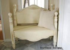 a headboard bench with a story to tell, diy, painted furniture, repurposing upcycling
