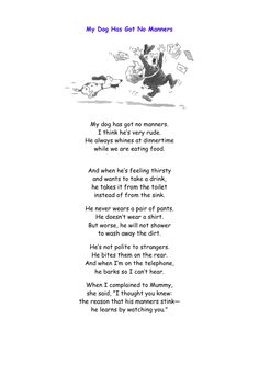 walk a little slower daddy poem Short Funny Poems, Short Poems For Kids, English Poems For Kids, Funny Poems For Kids, Poetry For Kids, English Lessons, Daddy Poems, Dog Poems, Poems About School