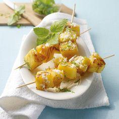Tip: Gegrilde ananasspiezen #BBQ #vega #WeightWatchers #WWrecept