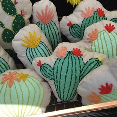 Cactus and succulent pillows