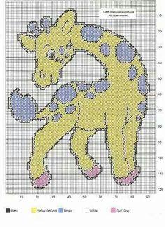 BABY GIRAFFE by CREATIVECANVASCRAFTS.COM 2/2 - WALL HANGING