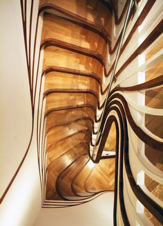 staircase by atmos studio ~ I'm thinking this would make me dizzy! lol