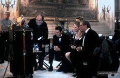 Stanley Kubrick, Tom Cruise and Nicole Kidman on the set of Eyes Wide Shut (1999)