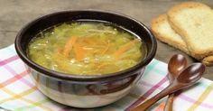 Sopa de verduras en juliana con jamón