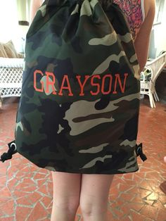 Boys cinch sac, monogram