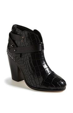 The croc just makes this little bootie!  rag & bone 'Harrow' Bootie (Online Only) | Nordstrom