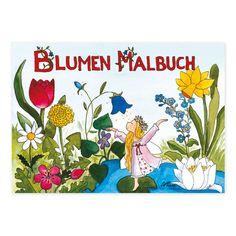 Blumen-Malbuch liebevoll illustriert von Outi Kaden. https://www.graetz-verlag.de/malbuch-a5-blumen