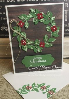 Stampin Up Christmas, Christmas Paper, Christmas Carol, Christmas Trees, Xmas Cards, Holiday Cards, Stampin Up Catalog, Holiday Wreaths, Card Making