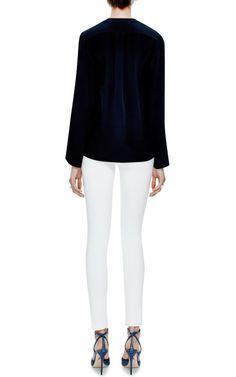 Nehru Collar Silk Blouse by Derek Lam - Moda Operandi