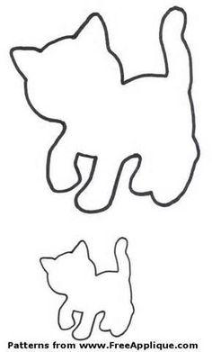 Free applique cat pattern google search
