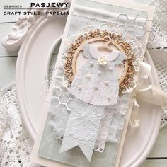Baby Crafts, Diy And Crafts, Christening Card, Baby Frame, Diy Wall, Cardmaking, Baby Shower, Scrapbook, Paper
