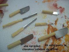 MaliMin Mis Miniaturas :): Tutorial cuchillos